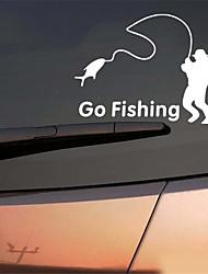 Недорогие -популярная рыбалка винил автомобильная графика окно стикер автомобиля наклейка декора