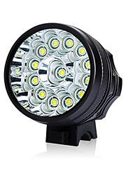 Недорогие -Светодиодная лампа Велосипедные фары Передняя фара для велосипеда LED Горные велосипеды Велоспорт Водонепроницаемый Безопасность Портативные Перезаряжаемая батарея 18650 9800 lm