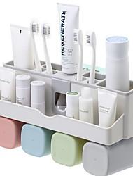 Недорогие -Стакан для зубных щеток Установка на полу Обычные PP 2pcs Зубная щетка и аксессуары