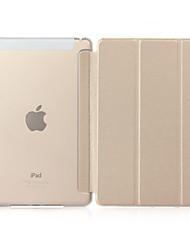 Недорогие -чехол tpu для ipad с магнитной застежкой mini1234 ipad234 10.5 air1 / 2 pro 9.7 интеллектуальный планшет для сна тройной полупрозрачный защитный чехол