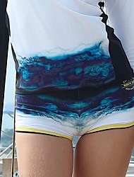 Недорогие -Жен. Купальные шорты Обтягивающие длинные шорты Пляжные шорты Нижняя часть Быстровысыхающий Кулиска - Серфинг Пляж  Водные виды спорта Мультипликация Лето
