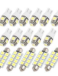 Недорогие -16шт белый светодиодный купол карта двери шаг ствола свет интерьер пакет комплект для форд экспедиции (5x41mm-8-5050 11xt10-5-5050)