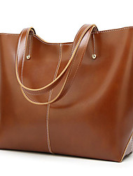 cheap -Women's Bags PU(Polyurethane) Tote Solid Color Blushing Pink / Brown / Wine