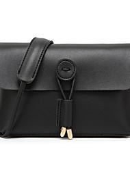 cheap -Women's Bags PU(Polyurethane) Crossbody Bag Solid Color Blushing Pink / Gray / Brown