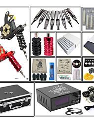 billige -Tattoo Machine Professionel Tattoo Kit - 2 pcs Tattoo Maskiner, Justerbare Dynamiske / Justerbar Spænding / Sæt Støbejern # No case 2 x støbejern tatoveringsmaskine til optegning og skygge / Spole