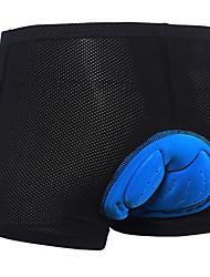 Недорогие -Arsuxeo Муж. Велотрусы Велоспорт Шорты с защитой 3D-панель Виды спорта Полиэстер Спандекс Черный Шоссейные велосипеды Одежда Очень свободное облегание Одежда для велоспорта / Эластичная