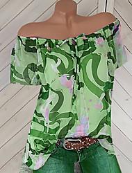 billige -Dame - Geometrisk Basale T-shirt Rød US10
