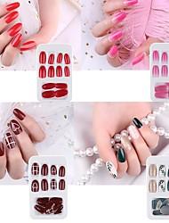 Недорогие -маникюр 24шт. наконечники для накладных ногтей накладные формы ногтей для наращивания маникюра