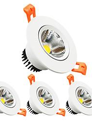 Недорогие -zdm 4шт диммер 3w 350lm направленный встроенный потолочный светильник cob выключен 2.5in (65mm) 60 угол пучка ac110v / ac220v