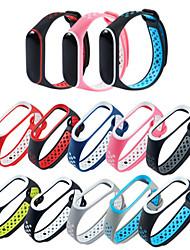 Недорогие -двойной цветной ремешок для xiaomi mi band 3/4 часы умный браслет ремешок водонепроницаемый чехол силиконовый ремешок для часов