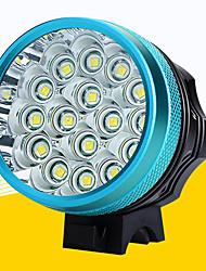 olcso -LED Kerékpár világítás Kerékpár első lámpa LED Kerékpározás Vízálló Hordozható Állítható Újratölthető elem 18650 12800 lm Akkumulátorok 110-240V 18650 Fehér Kempingezés / Túrázás / Barlangászat