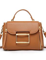Χαμηλού Κόστους -Γυναικεία Τσάντες PU Τσάντα χειρός Συμπαγές Χρώμα Πράσινο του τριφυλλιού / Μαύρο / Καφέ
