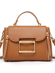 cheap -Women's Bags PU(Polyurethane) Top Handle Bag Solid Color Green / Black / Brown