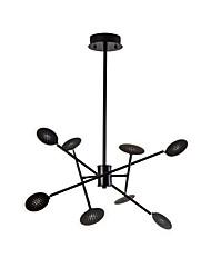 baratos -QINGMING® 8-luz Mini Lustres Luz Ambiente Acabamentos Pintados Metal Estilo Mini 110-120V / 220-240V Branco Quente / Branco Frio