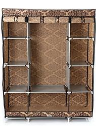 Недорогие -коричневый дамасский 65-дюймовый шкаф для спальни шкаф для хранения вещей организатор