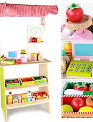 preiswerte -Tue so als ob du spielst lieblich Seltsame Spielzeuge Handgefertigt Hölzern Kinder Baby Alles Spielzeuge Geschenk 18 pcs