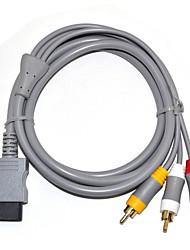 Недорогие -композитный кабель аудио-видео кабель 3 rca-6 футов для Nintend Wi-Fi / монитор v1