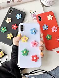 ราคาถูก -Case สำหรับ Apple iPhone X / iPhone XS Max DIY ปกหลัง ดอกไม้ Soft TPU สำหรับ iPhone XS / iPhone X