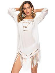 abordables -Mujer Blanco Tapadera Bañadores - Un Color Tamaño Único Blanco