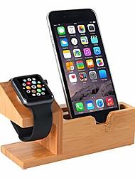 Недорогие -совместимо с подставкой для часов Apple, подставка для зарядки USB подставка для телефона с портом зарядки 3 USB бамбуковая деревянная зарядная станция для док-станции 38 мм и 42 мм