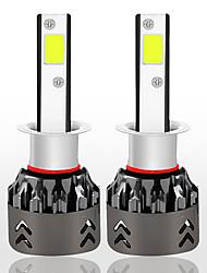 Недорогие -1 пара mini6-светодиодных фар h1 72w kit 8000lm 6000k мощная автомобильная лампа