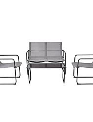 Недорогие -открытый черный стальной каркас 4-х частей мебели для патио