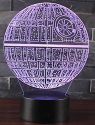 Недорогие -LED освещение Ракеты и космические корабли Звёздное небо Мерцание 3D в мультяшном стиле Милый Пластиковый корпус Детские Для подростков Все Игрушки Подарок 1 pcs