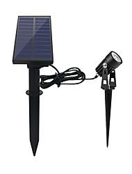 Недорогие -1шт 1 W LED прожекторы / Свет газонные Водонепроницаемый / Работает от солнечной энергии / Декоративная Белый 5.5 V Уличное освещение 1 Светодиодные бусины