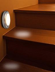 Недорогие -1шт LED Night Light Тёплый белый Аккумуляторы AAA Безопасность / Инфракрасный датчик / Датчик человеческого тела Батарея