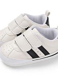 ราคาถูก -เด็กผู้ชาย / เด็กผู้หญิง PU รองเท้าผ้าใบ ทารก (0-9m) / เด็กวัยหัดเดิน (9m-4ys) สำหรับการเดินครั้งแรก ขาวและน้ำเงิน / ขาวและเงิน / สีน้ำตาลอ่อน ฤดูใบไม้ผลิ / ตก
