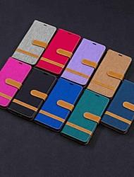 Недорогие -Кейс для Назначение Nokia Nokia 5.1 / Nokia 4.2 / Nokia 3.1 Кошелек / Бумажник для карт / со стендом Чехол Плитка Твердый текстильный