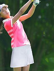 זול -בנות חולצת POLO שרוולים קצרים גולף ריצה להתאמן בגדי ספורט ומנוחה בָּחוּץ סתיו אביב קיץ / מיקרו-אלסטי / ייבוש מהיר / פתילת לחות / נושם