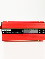 Недорогие -Kesge 1500 Вт портативный автомобильный инвертор DC12 / 24-AC220V / 110 В с ЖК-дисплеем высокой частоты инвертор