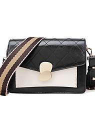 Χαμηλού Κόστους -Γυναικεία Τσάντες PU Σταυρωτή τσάντα Συνδυασμός Χρωμάτων Θαλασσί / Μαύρο / Καφέ