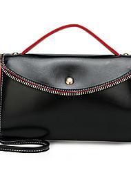 cheap -Women's Bags PU(Polyurethane) Crossbody Bag Solid Color Black / Blushing Pink / Yellow