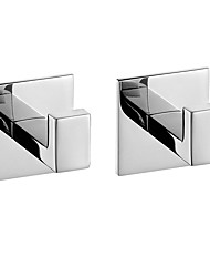 cheap -Robe Hook New Design / Self-adhesive / Creative Contemporary / Modern Stainless Steel / Stainless steel / Metal 2pcs - Bathroom Wall Mounted