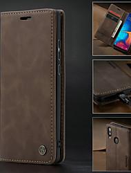 Недорогие -Caseme чехол для Samsung Galaxy A30 (2019) / A40 (2019) / A50 (2019) / A70 (2019) ретро Pu кожаный бумажник слот для карт памяти слот для карт с подставкой ударопрочный жесткий чехол