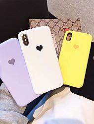 זול -מגן עבור Apple iPhone X / iPhone XS עמיד לאבק כיסוי אחורי לב רך TPU ל iPhone XS / iPhone X
