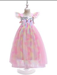 זול -שמלה ללא שרוולים פרחוני בנות ילדים / פעוטות