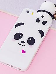 billige -CISIC Etui Til Apple iPhone XR / iPhone XS Max Stødsikker / Støvsikker / Vandafvisende Bagcover Dyr / Tegneserie / Panda Blødt TPU for iPhone XR / iPhone XS Max / iPhone X