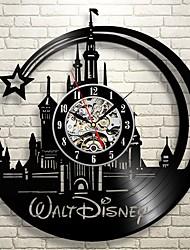 Недорогие -2019 новый cd виниловые пластинки настенные часы современный дизайн мультфильма черные настенные часы домашнего декора часы для детей подарки 12 * 12 (30.5cm30.5cm)
