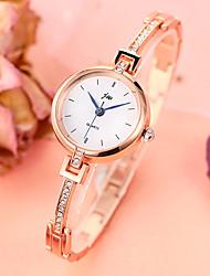 Недорогие -Жен. Часы-браслет На каждый день Мода Серебристый металл Золотистый сплав Китайский Кварцевый Золотой + красный Серебристый / белый Silver-Rose Новый дизайн Имитация Алмазный 1 ед. Аналоговый