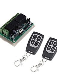 Недорогие -4-канальный беспроводной пульт дистанционного управления dc12v / код обучения