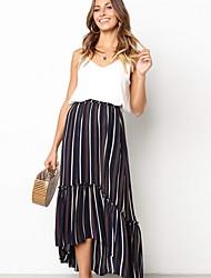 abordables -Mujer Básico Columpio Faldas A Rayas