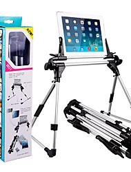 halpa -alumiiniseos kolmijalka taitettava säädettävä pidike työpöytä / vuode kiinnitys seistä puhelin tabletti saatavilla