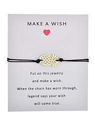 billiga -Dam Enkel slinga Handgjort Link Armband Ananas Kärlek Hoppas Trendig Armband Smycken Rosa / Ljusblå / Vinröd Till Party Dagligen