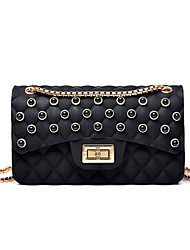 cheap -Women's Bags PU(Polyurethane) Crossbody Bag Solid Color Black / Red / Blushing Pink