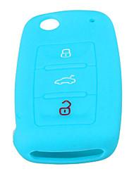 Недорогие -3-кнопочный силиконовый дистанционный ключ чехол для vw mk6 гольф джетта пассат жук