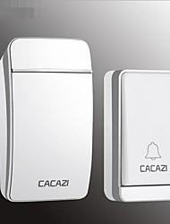 Недорогие -самогенерирующий беспроводной домашний дверной звонок интеллектуальная связь один на один междугородний пульт без батареи водонепроницаемый дверной звонок