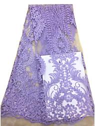 levne -Africké krajky Jednobarevné Vzor 125 cm šířka tkanina pro Pro nevěstu prodáno podle 5Yard